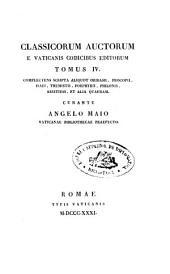 Classicorum auctorum e vaticanis codicibus editorum: complectens scripta aliquot Oribassii, Procopii, Isaei, Themistii, Porphyrii, Philonis, Aristidis, et alia quaedam, Volume 4