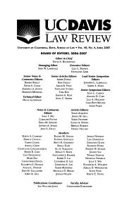 U C  Davis Law Review PDF