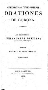 Aeschinis et Demosthenis Orationes de corona