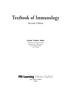 TEXTBOOK OF IMMUNOLOGY PDF