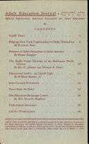Adult Educational Journal: Vol. 9 1950 Jan.-July