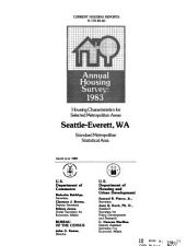 Current Housing Reports: Annual housing survey. Housing characteristics for selected metropolitan areas