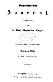 Dinglers polytechnisches journal: Band 158