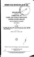 Minimum Wage Restoration Act of 1987 PDF