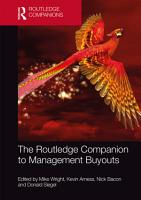 The Routledge Companion to Management Buyouts PDF