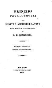 Principj fondamentali del diritto amministrativo, onde tesserne le instituzioni