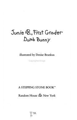 Junie B   First Grader PDF