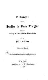 Geschichte der Deutschen im staate New York bis zum anfange des neunzehnten jahrhunderts