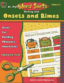 Dr  Fry s Word Sorts  Working with Onsets and Rimes PDF