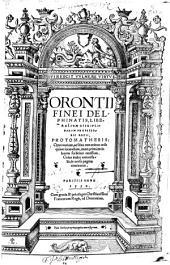 Orontii Finei ... Protomathesis ...