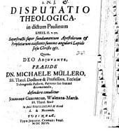 Disputatio theologica in dictum Paulinum Ephes. II