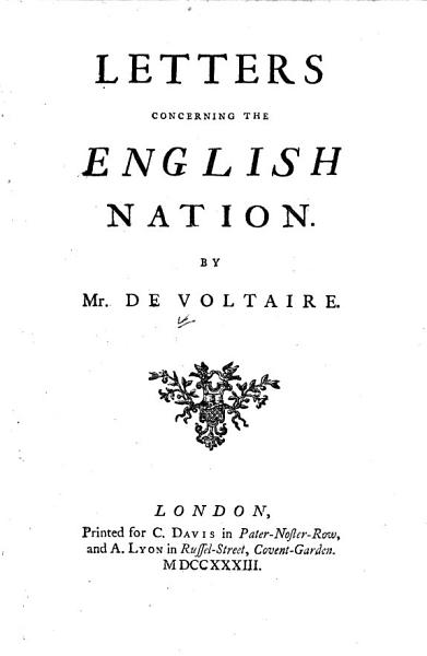 Download Letters Concerning the English Nation Book