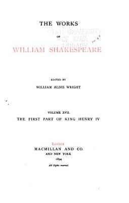 The Works of William Shakespeare  King Henry IV  part 1 PDF