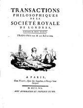 Transactions philosophiques de la Société Royale de Londres: 1734