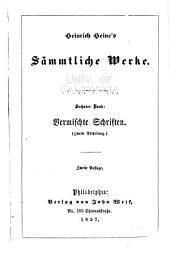 Heinrich Heine's sämmtliche werke: Band 6