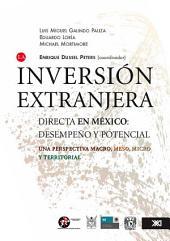 La inversión extranjera directa en México: desempeño y potencial : una perspectiva macro, meso, micro y territorial