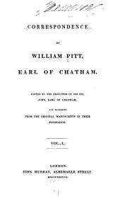 Correspondence of William Pitt: Volume 1