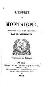 L'esprit de Montaigne