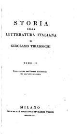Storia della letteratura italiana: Dalla rovina dell' Impero occidentale fino all' anno MCLXXXIII