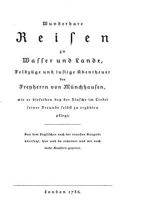 Des freyherrn von M  nchhausen wunderbare reisen  aus dem englischen mit kupfern PDF