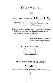 Oeuvres de Ponce-Dénis Le Brun, membre de l'Institut de France et de la Légion d'honneur: Volume2