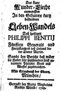 Das klare Wunderlicht in dem Lebenswandel d  H  Philippi Benitii PDF