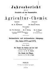 Jahresbericht fur Agrikultur-Chemie: Bände 16-17