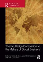 The Routledge Companion to the Makers of Global Business PDF