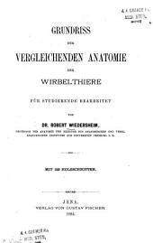 Grundriss der vergleichenden Anatomie der Wirbelthiere