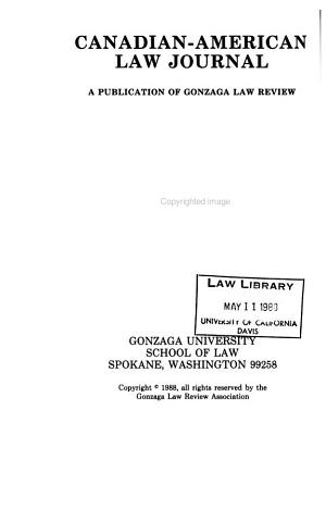 Canadian American Law Journal PDF