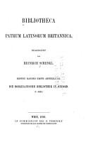 Bibliotheca patrum latinorum britannica PDF