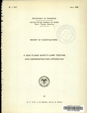 A New Flame Safety lamp Testing and Demonstration Apparatus PDF