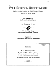 Paul Robeson Rediscovered PDF