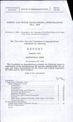 Energy and Water Development Appropriations Bill  2009 PDF