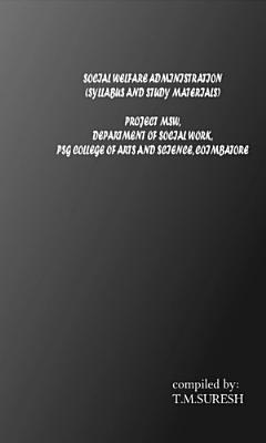 Social Welfare Administration PDF