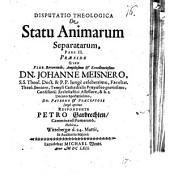 Diss. ... de statu animarum separatarum