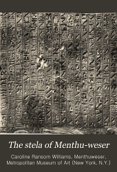 The stela of Menthu-weser