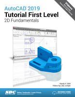 AutoCAD 2019 Tutorial First Level 2D Fundamentals PDF