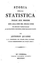 Storia della statistica ... sino alla fine del secolo xviii