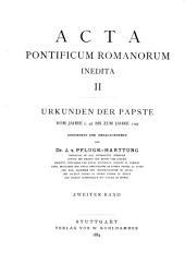 Acta ponticum romanorum inedita