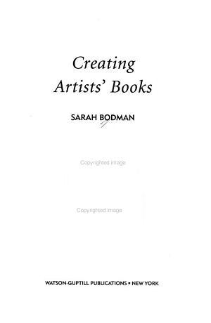 Creating Artists  Books PDF