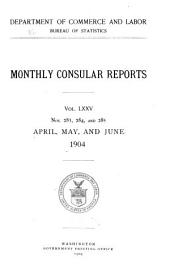Monthly consular reports: Issues 283-285
