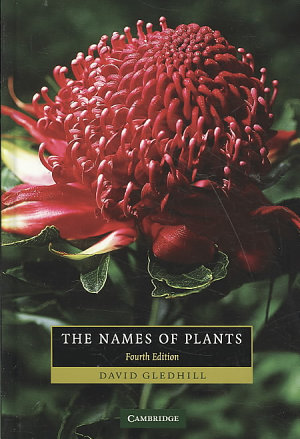 The Names of Plants PDF