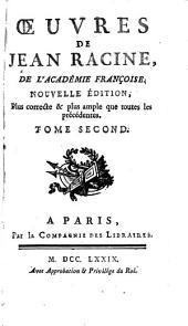 Bérénice, tragédie. Bajazet, tragédie. Mithridate, tragédie. Iphigénie, tragédie. Phedre, tragédie