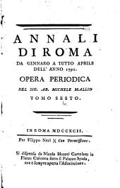 Annali di Roma ...: Volume 6