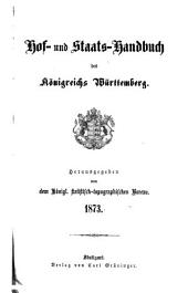 Hof- und Staats-Handbuch des Königreichs Württemberg: 1873