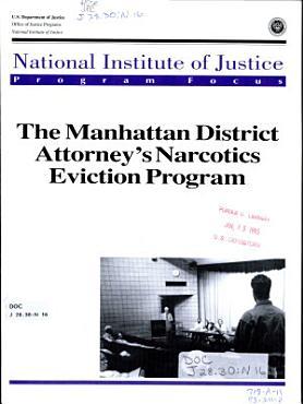 The Manhattan District Attorney s Narcotics Eviction Program PDF