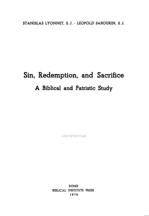 Sin  Redemption  and Sacrifice