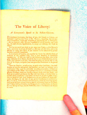 The Voice of Liberty  a Liveryman s Speech to His Fellow citizens PDF