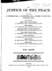 Justice of the Peace: Volume 43